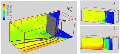 UPC 3D CFD air curtain